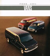 1994 Ford VANs Brochure / Catalog: ECONOLINE,AEROSTAR,Stripped Chassis,E-150,250