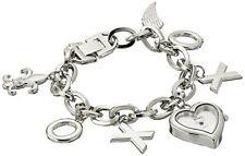 XOXO Womens Silver-Tone Charm Watch