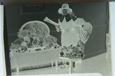 (1) B&W Press Photo Negative Thanksgiving Themed Dress Up Child Table T214