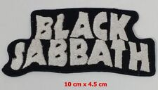 BLACK SABBATH WHITE ,EMBROIDERED Iron on/Sew on  PATCH