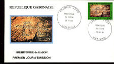 PREHISTORY PETROGLYPHS ROCK CARVINGS 1991 GABON 4 FDC