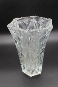Crystal Vase Vintage Soviet Antique