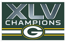 3 x 5 ft. NFL Super Bowl 45 Champions Flag, Printed with Heading and D-rings