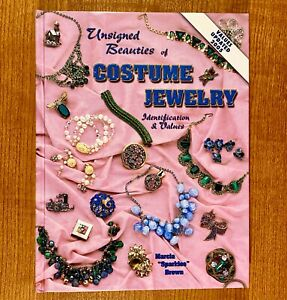 "Unsigned Beauties of COSTUME JEWELRY by Marcia ""Sparkles"" Brown  (LIKE NEW)"