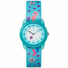 Kids Timex Time Teacher Blue Elastic Fabric Band Watch TW7C13700