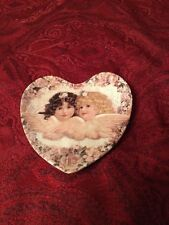 SWEETNESS AND GRACE PLATE HEAVENLY HEARTS ANGELS CRESTLEY COLLECTION. LTD 1993