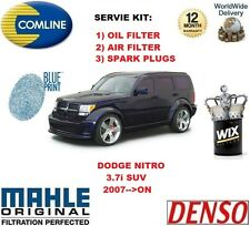 FOR DODGE NITRO 3.7 4x4 2007-->ON OIL AIR FILTER + SPARK PLUGS SERVICE KIT