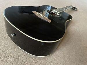 Ibanez V70 Bk 2y 01 Dreadnought Black Acoustic Guitar
