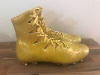 Under Armour Highlight LUX MC Football Cleats Gold Rush 1297953-795 Sz 10, 12-13