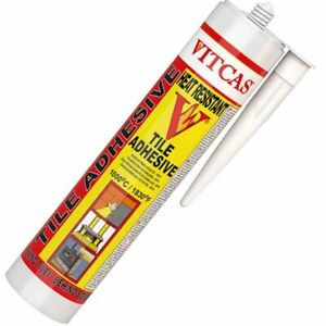 Heat Resistant Tile Adhesive (300ml) Great for Fireplace repairs 1000c/1830F