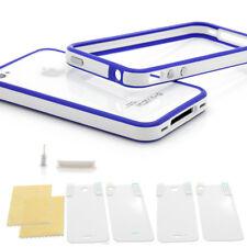 ? iPhone 4/4S TPU Bumper Silikon Case Schutz Hülle Cover Original blau weiss