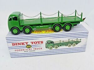 Atlas Dinky Supertoys 505 Foden Flat Truck with Chains Reproduction Model New