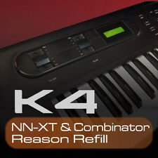 KAWAI K4 REASON REFILL 307 COMBINATOR & NNXT PATCHES 2456 SAMPLES 24bit MAC PC