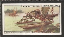 CADBURY-TRANSPORT-#09- DUG-OUT CANOE WITH OUTRIGGER PACIFIC ISLANDS