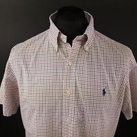 Ralph Lauren Mens Shirt LARGE Short Sleeve Multicoloured Regular Fit Check
