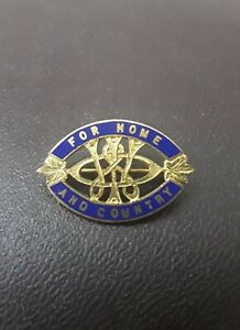 Vintage Womens Institute Enamel Badge Ontario Canada For Home And Country
