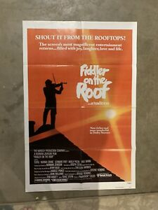 FIDDLER ON THE ROOF ONE SHEET ORIGINAL MOVIE POSTER (1979)