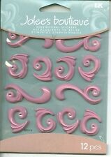 FLOURISHES Flourish Swirls Swirl Bright Pink Accents Jolee's Cabochon Stickers