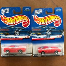 2 Hot Wheels 2000 first editions ferrari 550 maranello 23929 & 365 GTB/4 NEW