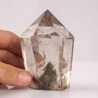 289g 83mm Natural Garden/Phantom/Ghost Quartz Crystal Point Healing Tower