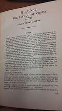 Handel: la Pasión de Cristo: partitura (LP5)