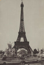 STUNNING VINTAGE PHOTO OF THE EIFFEL TOWER IN PARIS - BY C.I. HOOD