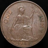 1953 | Elizabeth II One Penny | Bronze | Coins | KM Coins