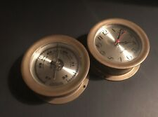 Vintage Brass Barometr&Clock Nautical