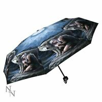 "NEMESIS NOW ""PROTECTOR"" FOLDING UMBRELLA by ANNE STOKES"