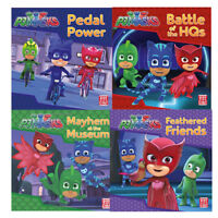 Pedal Power A PJ Masks Story Collection 4 Books Set  Mayhem at the Museum NEW