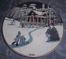 Arabia Vintage Wall Plate Christmas Plate 1990 Finland Tove Slotte Box