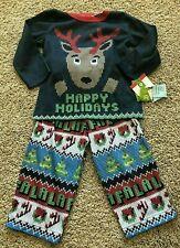 Toddler Boy Girl Blue Long Sleeve Reindeer 2pc Sleep Set Pajama 18 Months