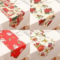 Christmas Santa Claus Party Event Decor Table Runner Xmas Tablecloth 14x71 Inch