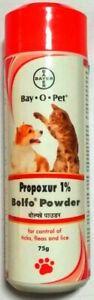 Bayer Bolfo Anti Tick & Flea Powder For Dogs & Cats (75 gm)