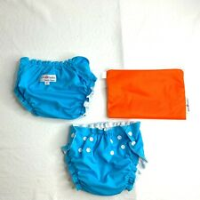 AppleCheeks St. Lucia Blue Washable Diaper Cover 18-35lbs Size 2 Lot of 2 Bag