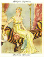 players cigarette large card. famous beauties : madame  recamier