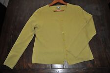 Burberry London 100% Authentic Cashmere Twin Cardigan Sweater Set Green