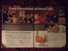1980 Print Ad Natural Light Beer ~ Guess Who Switched Mickey Mantle Joe Frazier