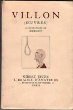 DUBOUT. Oeuvres de Villon. Gibert Jeune 1941. Ex. n°