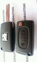 Coque cle Plip Télécommande pour Peugeot 207 phase 1 *307 phase 2 * 308 * CE0536