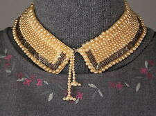 Handmade Collar Top Hit Fashion Baar & Beards Inc. Japan Faux Pearls Tube Beads