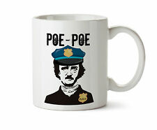 Edgar Allan POE Police Cop Thin Blue Line Officer Gift New Coffee Tea Mug 11 oz