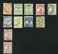 Stamp Lot Of Australia Kangaroos, With Better ($120+)