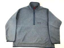 Vtg PATAGONIA Synchilla 1/2 Zip Fleece Pullover Blue XL fits like XXL 2001 25735