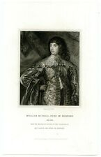 William Russell, Duke Of Bedford, English Royalist Soldier, Engraving (8227)