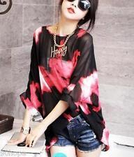 Plus Size 8-20 Waterfall Chiffon Kimono Top Blouse Boho Beach Kaftan Poncho Tops