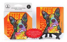 Boston Terrier Love Dog Dean Russo Drink Coaster