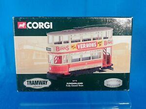 CORGI Boxed TRAMWAY Classics 36710 SUNDERLAND Tram Diecast Model Vernons Binns