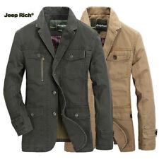 Jeep Rich Men Cotton Casual Business Blazers Suit fall Jacket Coat Multi-pocket