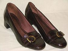 LifeStride Womens Brown Embossed Croc Heel Loafer Shoe NWOB - Size 10M